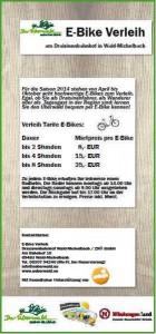 E-Bike-Flyer Preisliste 2015