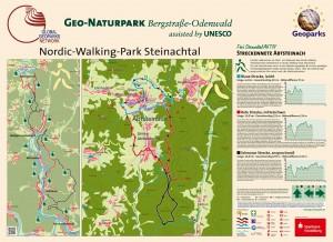 Infotafel Nordic-Walking-Streckenn Steinachtal