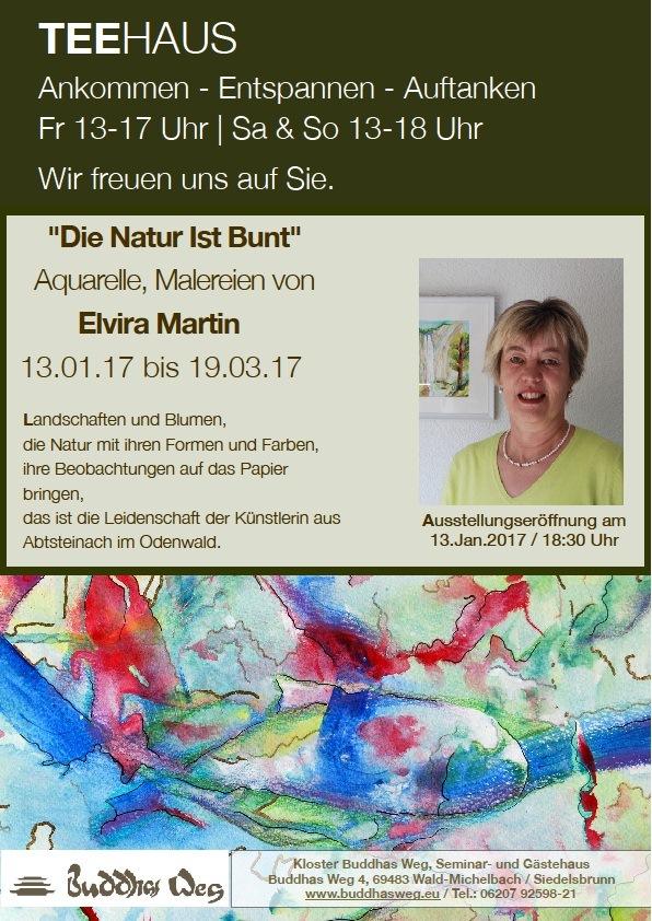 Ausstellung Buddhas Weg Elvira Martin jan-maerz 2017